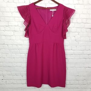 Trina Turk Womens Ruffle Sleeve Dress NWT